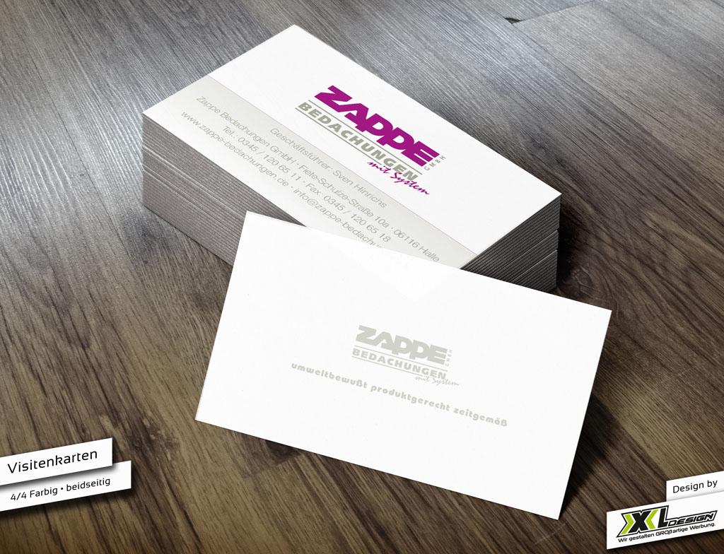 Visitenkarten Fa Zappe Gmbh Xxl Design
