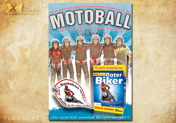 Motoball Roter Biker